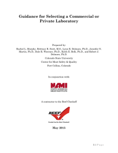 Guidance for Selecting a Commercial or Private Laboratory