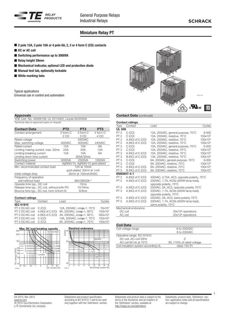 230VAC PLUG-IN SCHRACK   PT270730   RELAY TE CONNECTIVITY