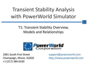 Transient Stability Analysis with PowerWorld Simulator