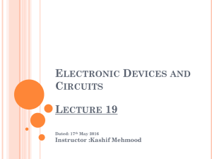 Electronic Devices and Circuits Lecture 2 - RiseMark