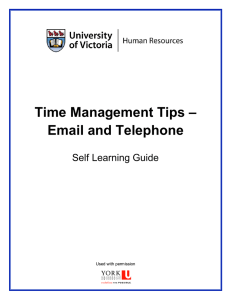 Time Management Tips – Email and Telephone