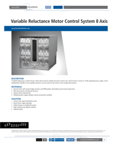 Variable Reluctance Motor Control System 8 Axis