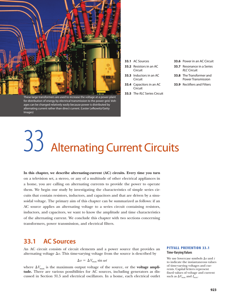 Servay 7th Edition Chapter33 Parallel Rlc Circuits Electrician Period 2