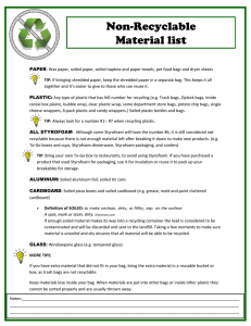 Non-Recyclable Material List