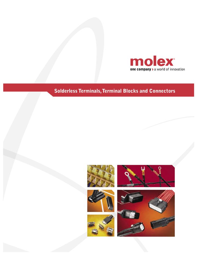 Lot of 50 Molex 19129-0008 10-12AWG Krimptite Spade Connectors #5-6 Stud