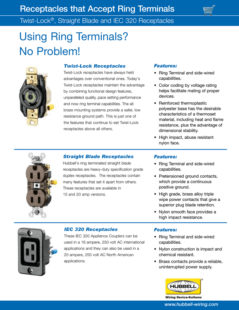 Using Ring Terminals No Problem Hubbell Wiring Device Kellems