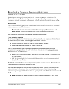Developing Program Learning Outcomes