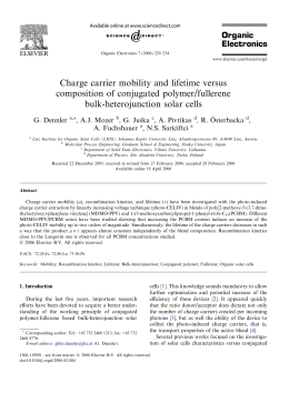 Charge carrier mobility and lifetime versus composition of