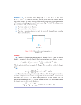 Problem 4.54 An electron with charge Qe