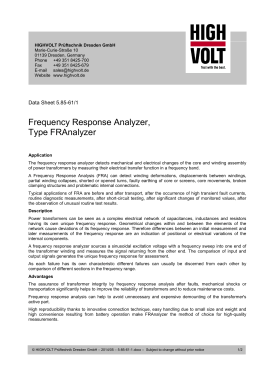 Frequency Response Analyzer, Type FRAnalyzer