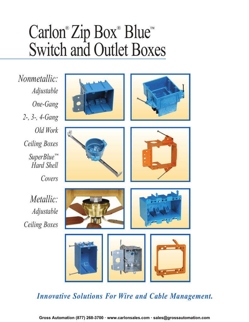 Carlon Zip Box Blue Switch And Outlet Boxes Wiring A Three Gang
