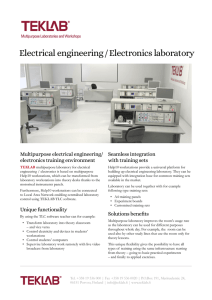 Electrical engineering / Electronics laboratory