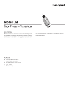 Model LM - Honeywell Test and Measurement Sensors