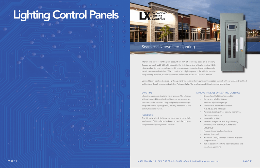 Lighting Control Panels Hubbell Solutions