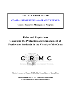 Rules and Regulations Governing the Protection and Management