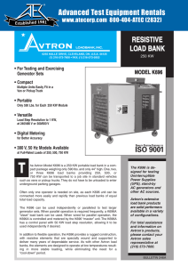 K696 Resistive Load Bank - Advanced Test Equipment Rentals