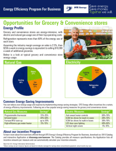 Energy Efficiency Program for Business - Grocery Stores