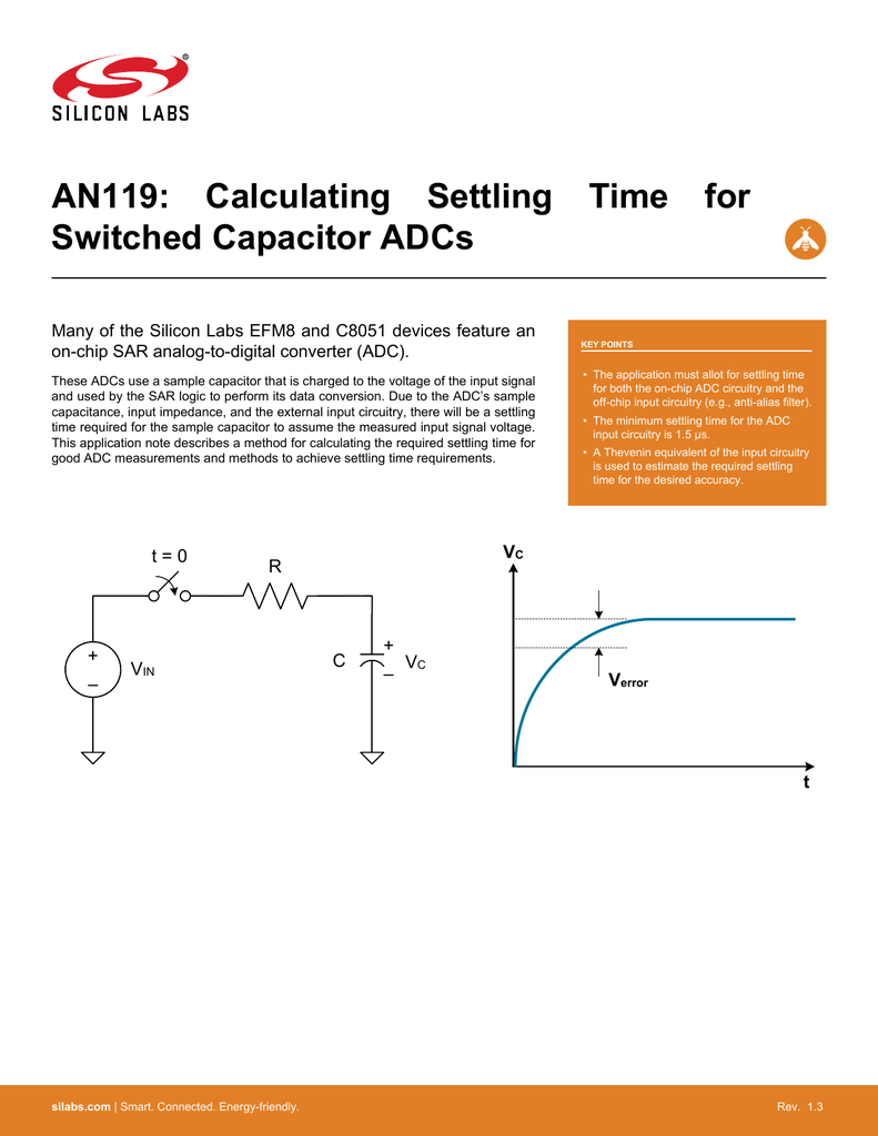 AN119: Calculating Settling Time for Switched