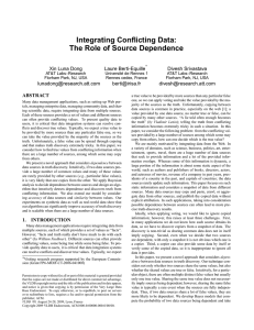 Integrating Conflicting Data: The Role of Source Dependence