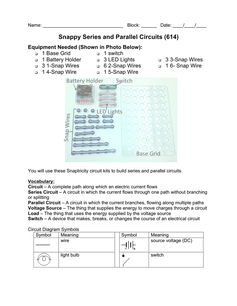 Snappy Series And Parallel Circuits 614 Dc Light Bulb Wiring Diagram