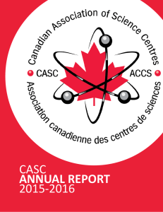 CASC Annual Report 2015-2016 - Canadian Association of Science