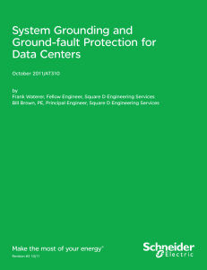 System Grounding and Ground-fault Protection for Data Centers