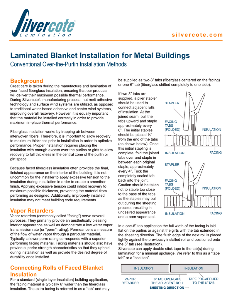 Laminated Blanket Installation for Metal Buildings