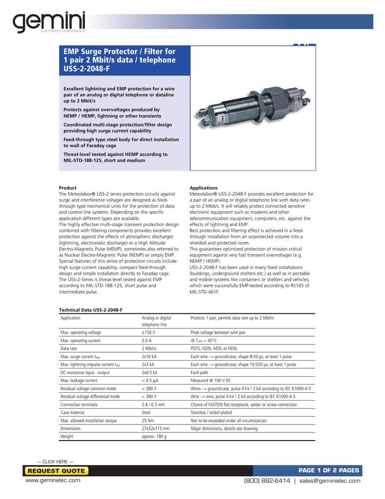 USS-2-2048-F datasheet