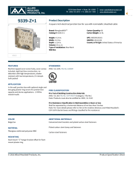 9339-Z+1 | Wall Junction Boxes | Allied Moulded Products, Inc.