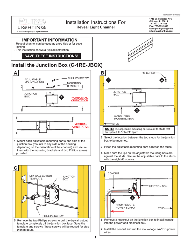 Install The Junction Box C 1re Jbox Installation Phillips Wiring Diagrams