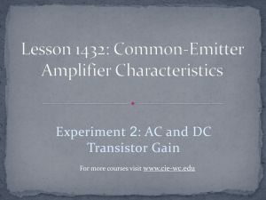 Lesson 1432: Common-Emitter Amplifier Characteristics