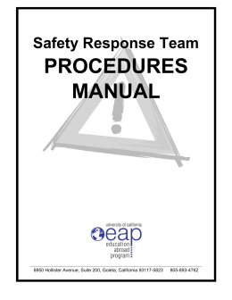 Safety Response Team Procedures Manual