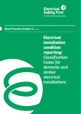 Best Practice Guide 4 - Electrical installation condition reporting