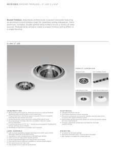 Round Trimless: Adjustable architectural recessed