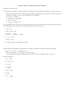 Inverse Laplace Transform Practice Sheet