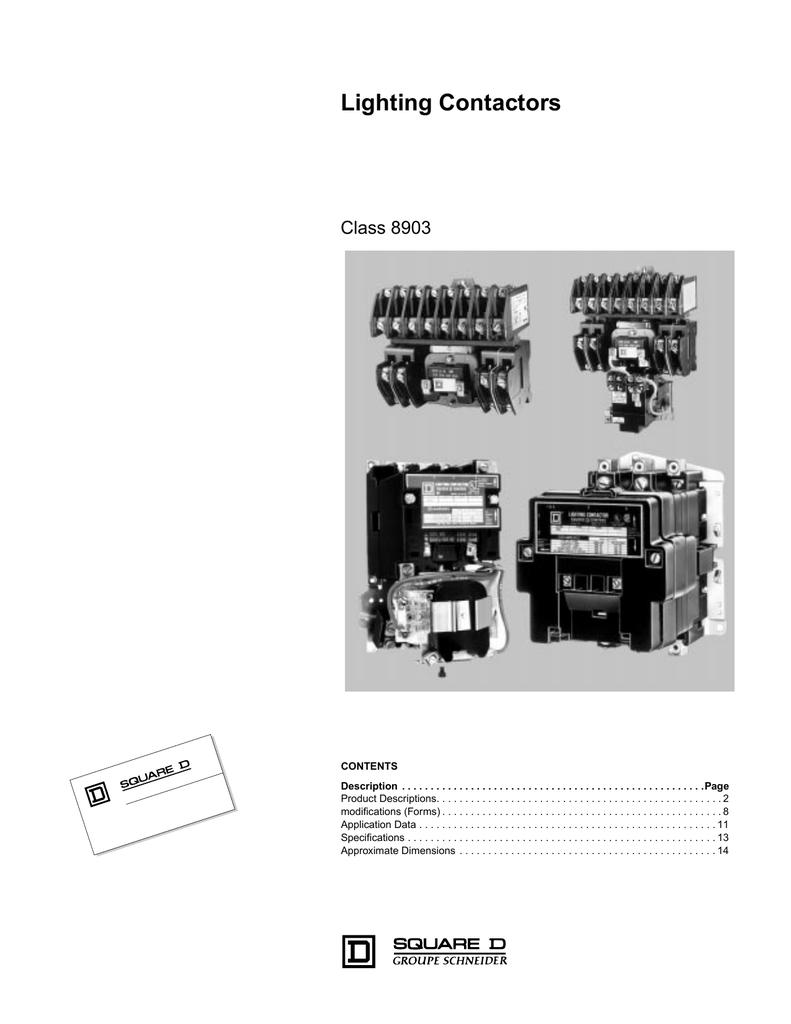 Lighting Contactors Catalog Class 8903 Square D Remote Controlled 20 Amp 1 Pole 277v Circuit Breaker