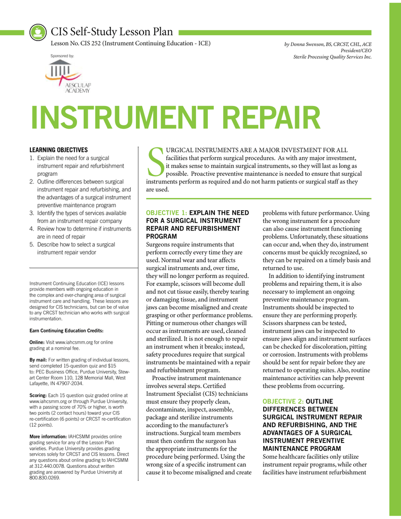 Instrument repair purdue distance learning 1betcityfo Choice Image