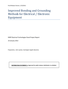 Improved Bonding and Grounding Methods for Electrical / Electronic