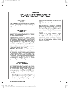 supplementary requirements for one- and two