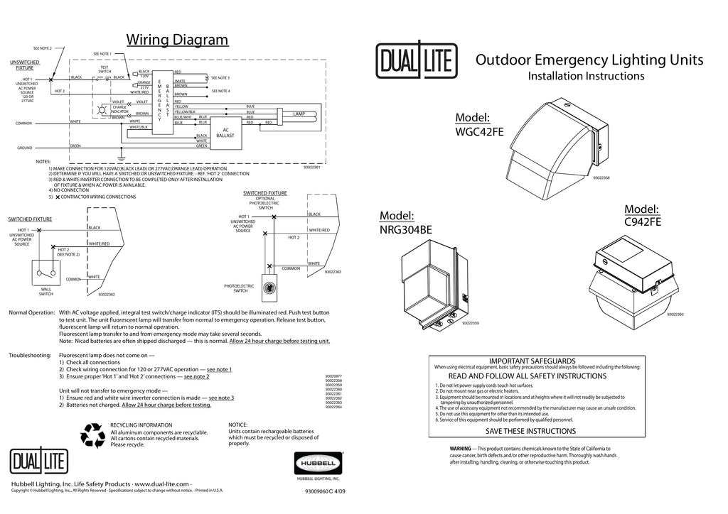 ridgeline series installation instructions dual lite 4 Lite Ballast Wiring Diagram 4 lite ballast wiring diagram wiring