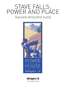 BC Hydro > Stave Falls: Power and Place (Teacher Resource Guide)