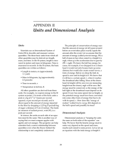 Units and Dimensional Analysis