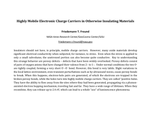 Highly Mobile Electronic Charge Carriers in Otherwise Insulating