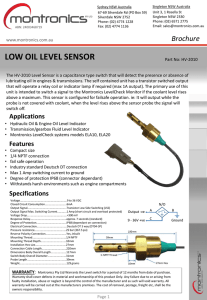 low oil level sensor