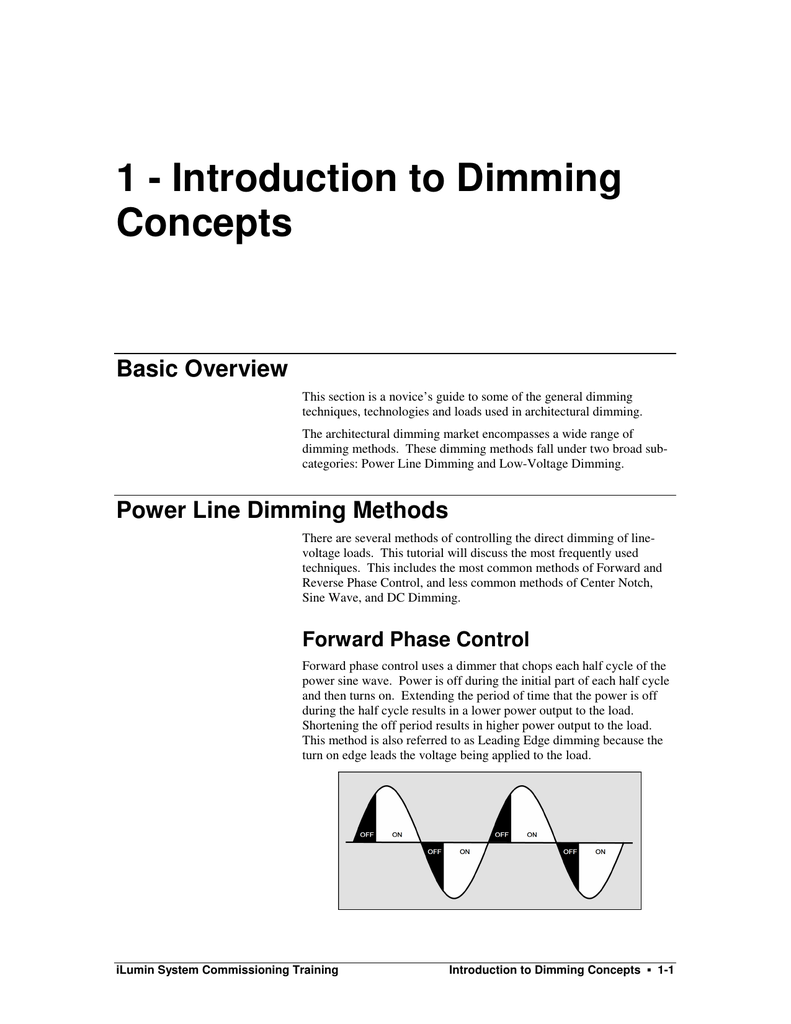 1 Introduction To Dimming Concepts Using An Scr Allows The Use Of Lowvoltage Electronics Control 018071083 E8bdae4ee69631e360c5339baa44049e