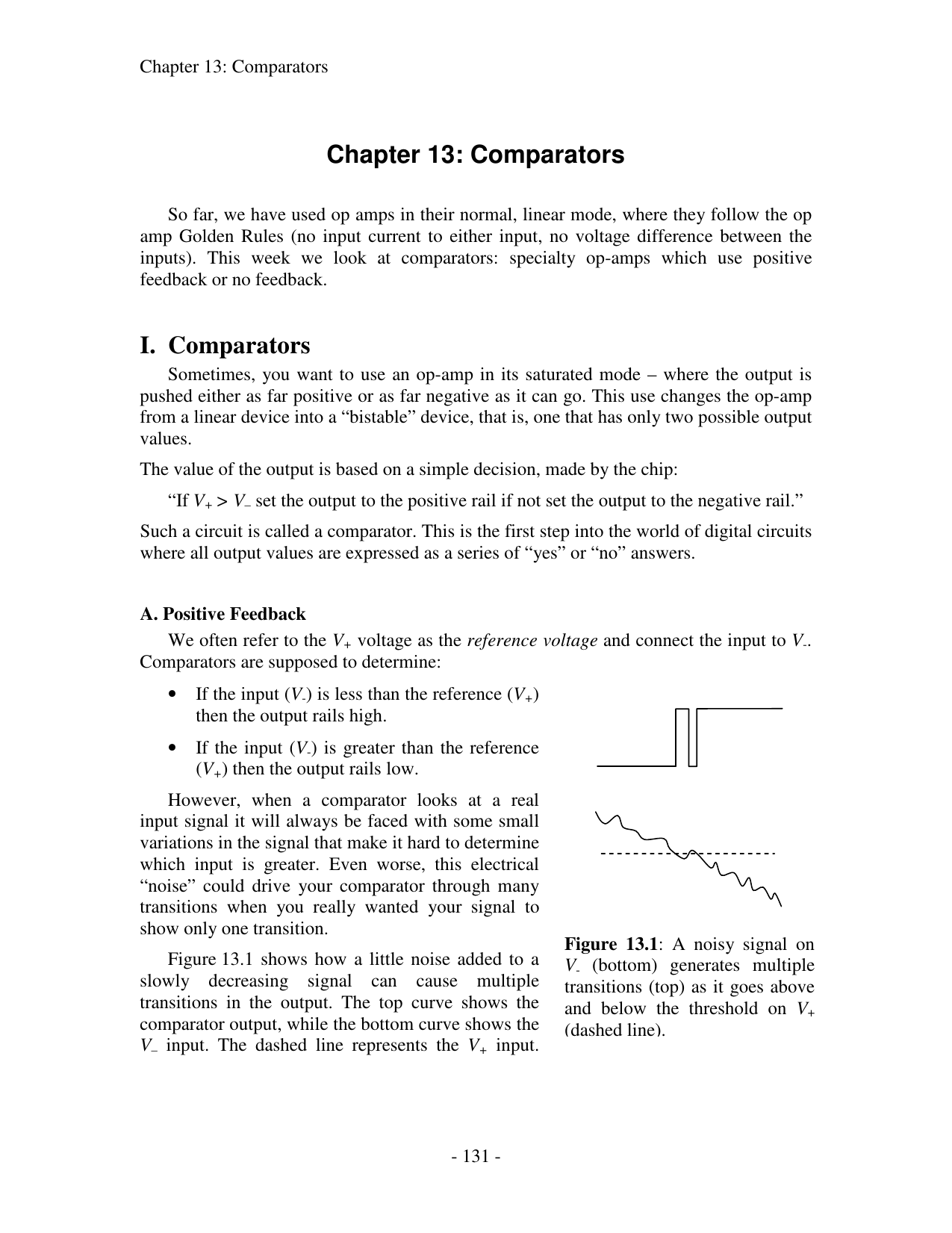 Chapter 13 Comparators I Comparator Oscillator Circuit By Lm311