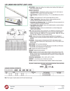 led linear high output light (lxc2)