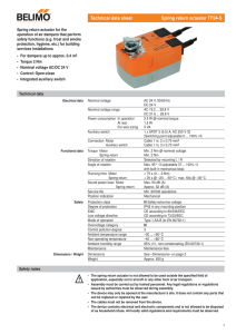 63-8419. - Motor/Actuator Selection Guide on