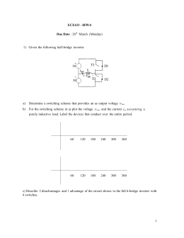 ECE433 –HW4 Due Date : 26th March (Monday) 1) Given the