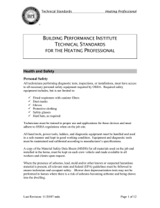 BPI Heating Professional Standards